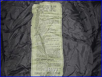 1(One)Modular Sleep System-Military Issue-Army Sleeping Bags-Very Good Condition