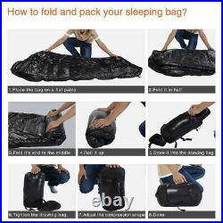 -20°C 1000g Mummy Duck Down Sleeping Bag Ultralight Camping 3 Seasons Waterproof