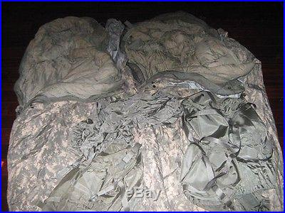 (2) US Military 4/5 Piece Modular Sleeping Bag Sleeping System W/Gortex Bivy ACU