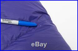 $309 Women's Wm's Marmot OURAY 0° F 650-Fill Power Duck Down Sleeping Bag Purple