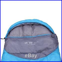 3 Season Outdoor Envelope Sleeping Bag for Camping Hiking with Carry Bag Purple
