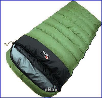 3 Season Winter Sleeping bag Duck Down Camping Hiking Travel Quilt KhakiBlack 1p