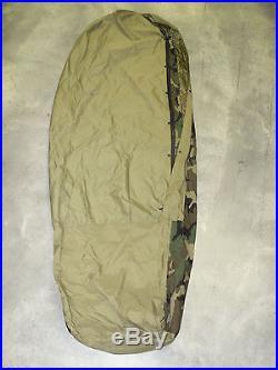 4 PIECE MODULAR SLEEPING BAG SLEEP SYSTEM MSS with WOODLAND BIVY USGI VG/EXC