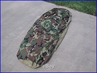 4-Piece Modular Sleep System MSS Military Sleeping Bags ECWS -30 USGI - EXC