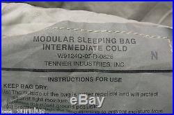 ACU INTERMEDIATE COLD URBAN GREY MODULAR SLEEPING BAG US Military Issue VG