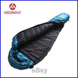 AEGISMAX Winter Outdoor Lengthened Mummy Sleeping Bag 95% White Goose Down