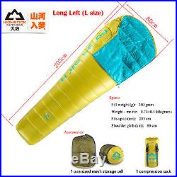 Adult ultralight portable camping outdoor duck down Sleeping Bag 5 Degree brands