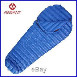 Aegismax Winter White Goose Down 7-11 degree Camping Mummy Sleeping Bag