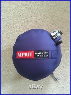 Alpkit Pipedream 200 Sleeping Bag. Ultra Lightweight Down 2 Season. 560g. New