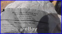 Army 5 Piece Modular Sleeping Bag Set System ACU UCP Bivy, both Compression Bags