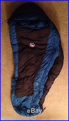 BIG AGNES Lost Ranger 15º Regular Left Zipper DOWN Sleeping Bag- Blue/Black