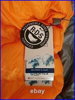 BNWT Rab Neutrino quilt 200- 800 fill power down sleeping bag ultralight Pertex