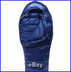 Back Ice Goose Down Mummy Adult Sleeping Bag Blue Color