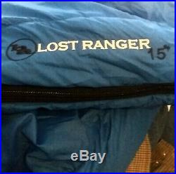 Big Agnes Lost Ranger Sleeping Bag 15 Degree Goose Down Long 80.5
