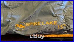 Big Agnes Spike Lake 4-season Down Sleeping Bag (15 deg.) Virtually New