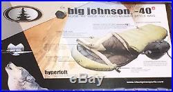 Black Pine Big Johnson -40 Degree Mummy Sleeping Bag, Olive/Black, Left Zip