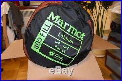 Brand New Marmot Lithium Down Sleeping Bag 0 Degrees Mummy Camping Backpacking