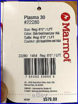 Brand New Marmot Plasma 30 Sleeping Bag