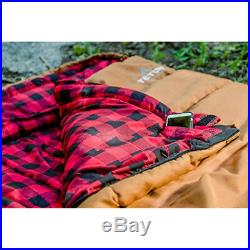 Brown -35 Deg F Sleeping Bag X Large Double Layer Camping Equipment Gear 90x39in