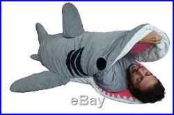 Chumbuddy 3 Adult Great White Edition Shark Sleeping Bag Designer Plush Figure