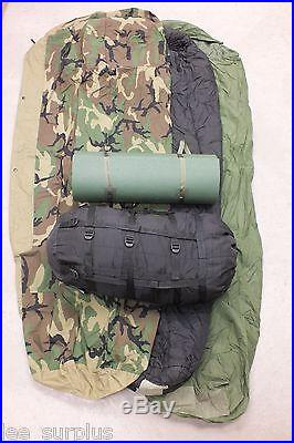 COMPLETE 4 PIECE MODULAR SLEEPING BAG SLEEP SYSTEM MSS w/ GoreTex Bivy & PAD