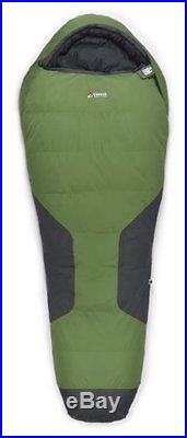 Chinook Polar Peak Mummy Down -5-Degree Sleeping Bag, Green