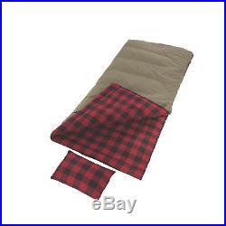 Coleman Big Game -5 Degree Big & Tall Sleeping Bag Red Plaid 2000030093
