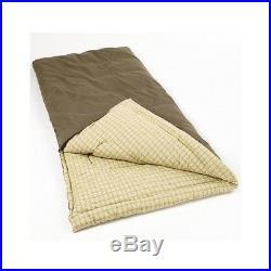 Coleman Sleeping Bag King Size Big Tall Cold Weather Camping Comfort Pillow