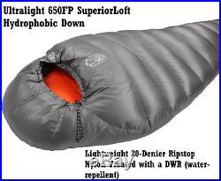 DMG Ultralight 0 Degree F 650 FP SuperiorLoft Down 4 Season Mummy Sleeping Bag