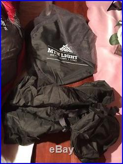 EMS Mountain Light 15° Sleeping Bag, Long, MOLTEN RED/GRAVEL, LONG/LEFT ZIP