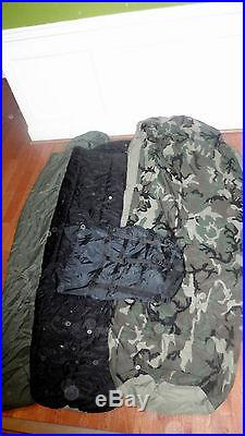 EXCELLENT CONDITION 4pc Military Sleep System MSS 4 SEASON SLEEPING BAG