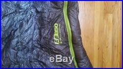 Eddie Bauer First Ascent Airbender 20 Sleeping Bag Dark Smoke