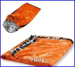 Emergency Aluminized Sleeping Bag Camping Outdoor Survival Tarp Shelter 84x36