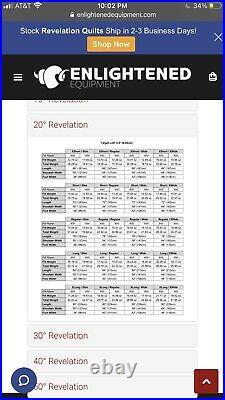 Enlightened Equipment 20f Revelation Apex Quilt
