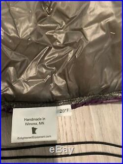 Enlightened Equipment Revolt Hammock Under Quilt 850 DT Down fill 20 Degree Reg