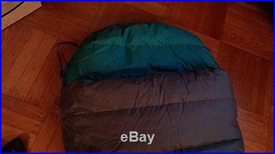 Feathered Friends Condor II Winter Sleeping Bag. Grey and Blue