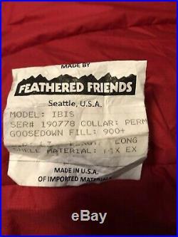 Feathered Friends Ibis EX 0 Long Sleeping Bag, Red, Left zip