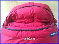 Feathered Friends Ptarmigan EX -25 Sleeping Bag, regular, red