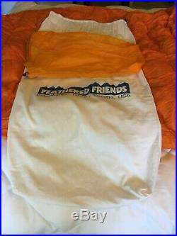 Feathered Friends Spoonbill Down Double Sleeping Bag UL size long orange