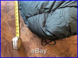 Feathered Friends Wren 72 Tall 900 down filled sleeping bag super nice