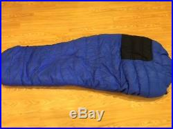 Feathered Friends sleeping bag Raven Blue Long 10 degree Down Mummy