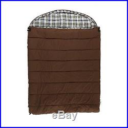 GRIZZLY 2-Person Sleeping Bag 0 Degree Canvas, BROWN, 40009, Great Product NIP