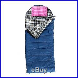 GRIZZLY 90 x 40 1-Person -25 Degree BLUE CANVAS Sleeping Bag by BLACK PINE New