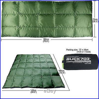 Goose down Sleeping bag 4Season Lightweight ultralight Camping Backpack Hiking