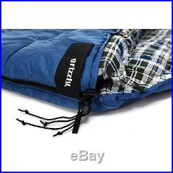 Grizzly 2-Person Sleeping Bag, Ripstop Poly Shell, -25 Degree, Blue, 40013