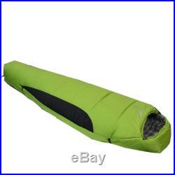 HOT! Brand New Comfortable Winter Mummy Camping Shaped Sleeping Bag Green