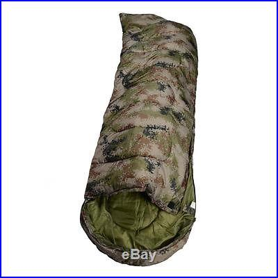 HOT! New Disruptive Pattern Mummy Shaped Sleeping Bag Camping Outdoor Army Green