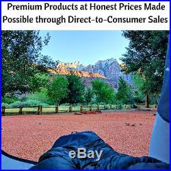 Hyke & Byke Quandary 15°F Ultralight Down Sleeping Bag for Backpacking, NEW