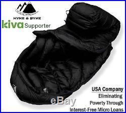 Hyke & Byke Snowmass 0°F Ultralight Down Sleeping Bag for Backpacking, NEW