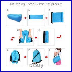Inflatable Lazy Air Bed Lounger Sofa Chair Portable Beach Mattress Sleeping Bag
